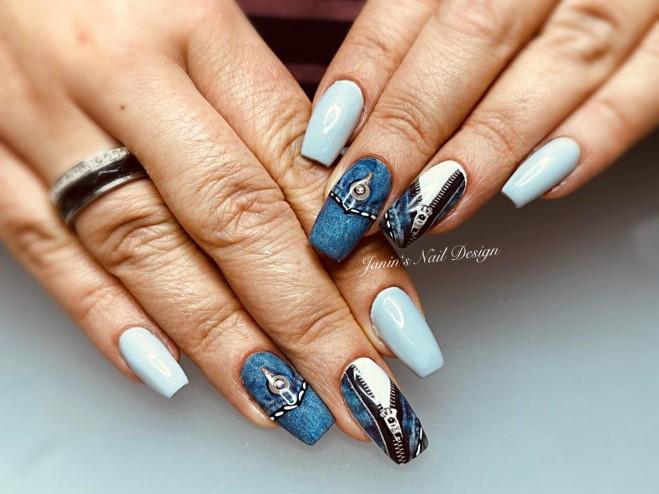 weiß blau design